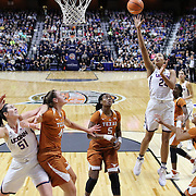 UNCASVILLE, CONNECTICUT- DECEMBER 4: Napheesa Collier #24 of the Connecticut Huskies shoots during the UConn Huskies Vs Texas Longhorns, NCAA Women's Basketball game in the Jimmy V Classic on December 4th, 2016 at the Mohegan Sun Arena, Uncasville, Connecticut. (Photo by Tim Clayton/Corbis via Getty Images)