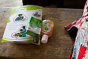 Free Dettol products given away at a hospital maternity talk.