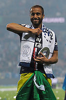 Lucas Moura  - 23.05.2015 - PSG / Reims - 38eme journee de Ligue 1<br />Photo : Andre Ferreira / Icon Sport
