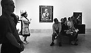 Everyone is enthralled with a lecture at the Norton Simon Museum in Pasadena, California.