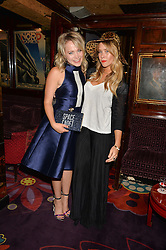 Left to right, POPPY JAMIE and JAZZY DE LISSER at a dinner to celebrate the launch of Genetic - Liberty Ross hosted by Liberty Ross and Ali Fatourechi at Annabel's, 44 Berkeley Square, London on 3rd September 2014.