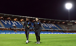 England U21's Demarai Gray (left) and Lewis Cook before the international friendly match at the Blue Water Arena, Esbjerg.