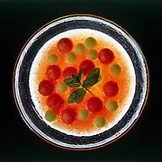 Melon and watermelon cold soup