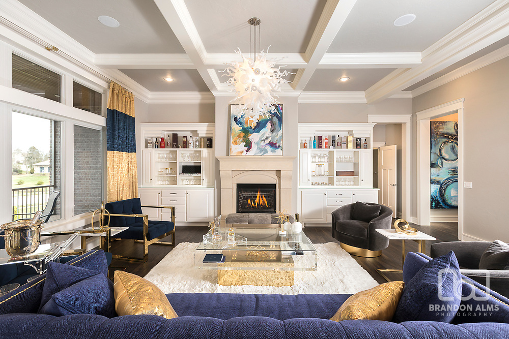 Interior photography by Brandon Alms of a modern Living room.