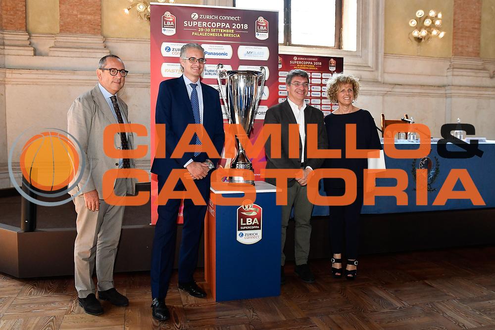 bianchi roccaforte del bono bragaglio<br /> presentazioe supercoppa 2018<br /> Legabasket Serie A 2018/19<br /> Brescia, 24/09/2018<br /> Ciamillo-Castoria
