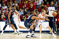 Eric Gordon of USA vs Sinan Guler of Turkey during the finals basketball match between National teams of Turkey and USA at 2010 FIBA World Championships on September 12, 2010 at the Sinan Erdem Dome in Istanbul, Turkey.   (Photo By Vid Ponikvar / Sportida.com)