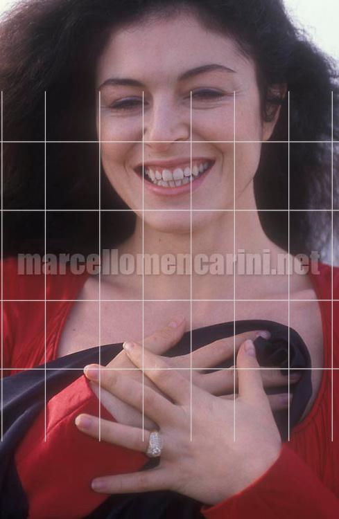 Fregene, Rome, 1991. Italian opera singer Anna Caterina Antonacci / Fregene, Roma, 1991. La cantante lirica Anna Caterina Antonacci - © Marcello Mencarini