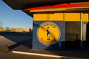 Tucumcari, New Mexico. Once a thriving roadside community, the economies along Route 66 have all but disappeared in the decades since Interstate 40 was created as a bypass to the historic two lane blacktop.