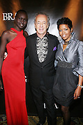 l to r: Alek Wek, Gilles Bensimon, and Malinda Williams-Jones at The BRAG 38th Annual Scholarship & Awards Dinner Dance held at Cipraini- Wall Street on October 17, 2008 in New York City ..BRAG?s Annual Scholarship and Awards Dinner Gala highlights the achievements of distinguished leaders in retail and related industries who believe and support the BRAG vision.  It also provides financial scholarships to deserving students who exhibit financial need.  BRAG, through this event, offers its members networking opportunities, introduces its members to CEOs and other senior corporate executives, and supports professional development. The Gala also serves as the organization's key fundraising event for its scholarship, mentoring, and training program