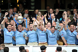 The RAF team celebrate winning the Inter-Services Championship - Photo mandatory by-line: Patrick Khachfe/JMP - Mobile: 07966 386802 09/05/2015 - SPORT - RUGBY UNION - London - Twickenham Stadium - Army v Royal Navy - Babcock Trophy