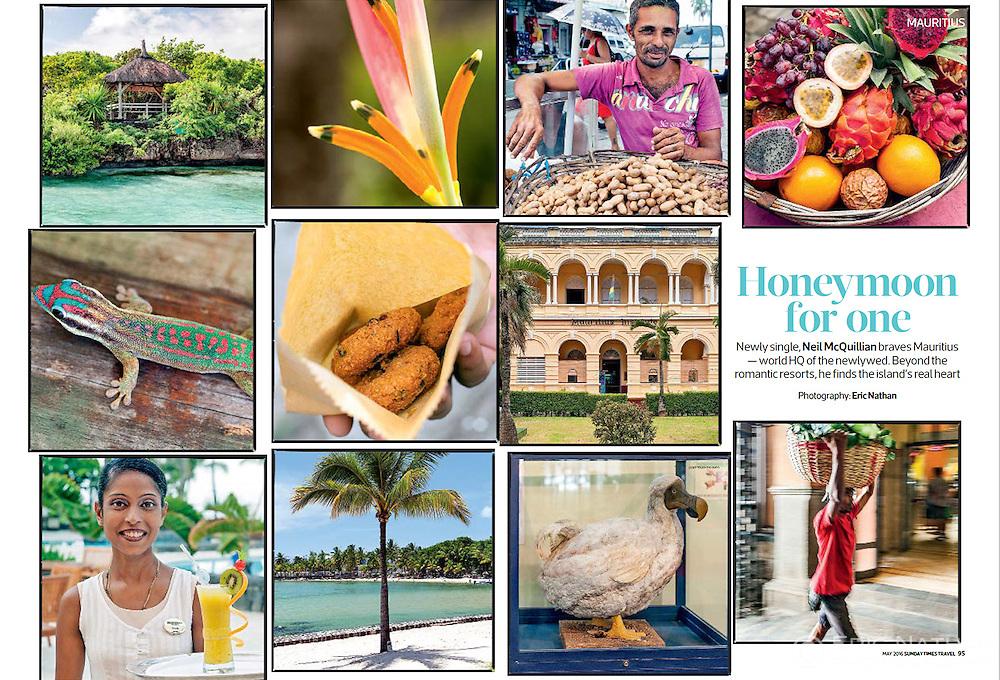 Mauritius travel feature, Sunday Times Travel magazine (UK), May 2016.