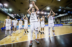 Novica Velickovic of Partizan NIS and other players of Partizan after the basketballl match between KK Petrol Olimpija Ljubljana and KK Partizan NIS mts in Round #20 of ABA League 2017/18, on February 10, 2018 in Tivoli sports hall, Ljubljana, Slovenia. Photo by Vid Ponikvar / Sportida