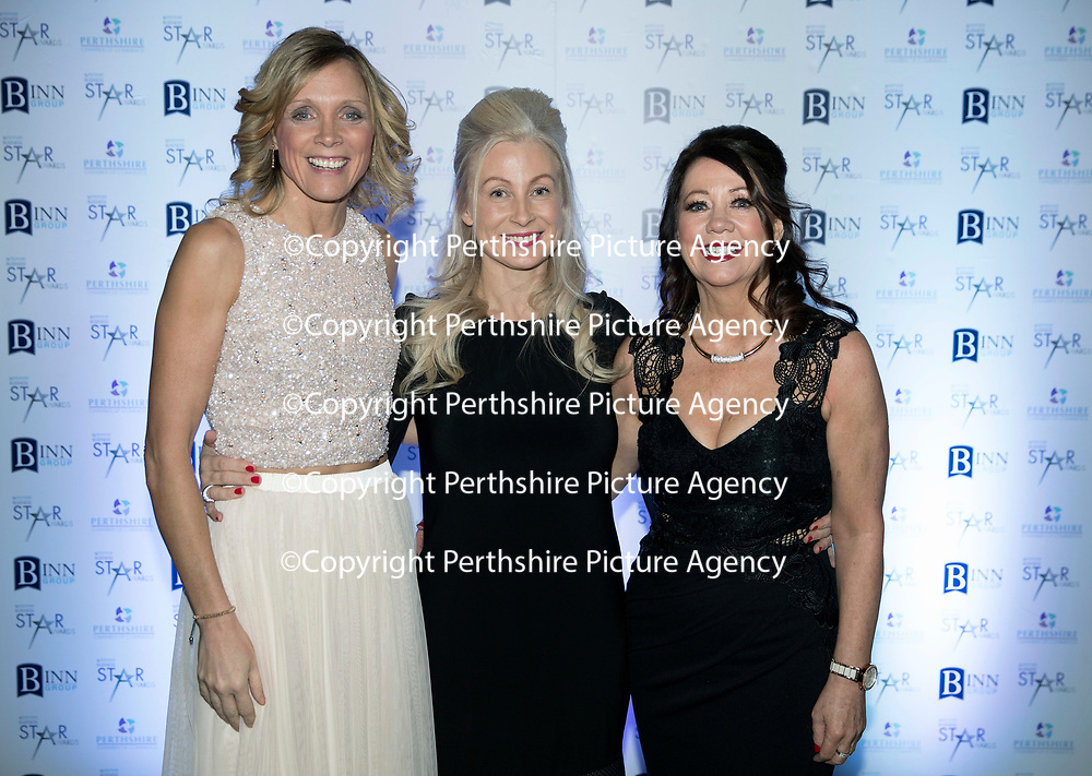 Perthshire Chamber of Commerce Business Star Awards 2017…Crieff Hydro Hotel<br />The PCoC team, Julie Ramsay, Vicki Unite and Kathy Joss<br />Picture by Graeme Hart. <br />Copyright Perthshire Picture Agency<br />Tel: 01738 623350  Mobile: 07990 594431