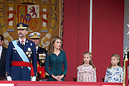 101214 Spanish Royals attends the National Day Military Parade