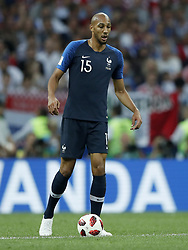 Steven N Zonzi of France during the 2018 FIFA World Cup Russia Final match between France and Croatia at the Luzhniki Stadium on July 15, 2018 in Moscow, Russia