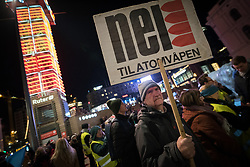 "10 December 2017, Oslo, Norway: In the evening of 10 December some 4,000 people from around the world gathered in central Oslo for a torch light march for peace. The event took place after the Nobel Peace Prize award 2017, awarded to the International Campaign to Abolish Nuclear Weapons (ICAN), for ""its work to draw attention to the catastrophic humanitarian consequences of any use of nuclear weapons and for its ground-breaking efforts to achieve a treaty-based prohibition of such weapons"". Among the crowd were more than 20 ""Hibakusha"", survivors of the atomic bombings in Hiroshima and Nagasaki, as well as a range of activists, faith-based organizations and others who work or support work for peace, in one or another way. Here, Kerje Vindenes from ""No to Nuclear Weapons"", one of the partners in ICAN. Vindenes has been active in the organization since the 80s, and he explains that through the 80s and the 90s, they were instrumental in mobilizing people across Norway against nuclear weapons."