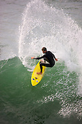 Catching Waves At The Huntington Beach Orange County California