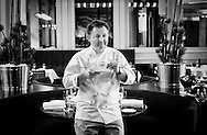 Copyright Jim Rice © 2013.<br /> LUKE MANGAN.CHEF AND OWNER GLASS RESTAURANT. <br /> HILTON HOTEL.SYDNEY