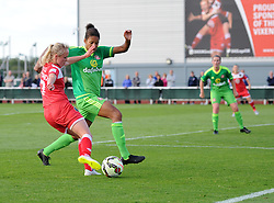 Bristol Academy's Nadia Lawrence maintains the pressure on Sunderland AFC Ladies - Mandatory by-line: Paul Knight/JMP - 25/07/2015 - SPORT - FOOTBALL - Bristol, England - Stoke Gifford Stadium - Bristol Academy Women v Sunderland AFC Ladies - FA Women's Super League