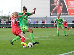 Bristol Academy's Nadia Lawrence maintains the pressure on Sunderland AFC Ladies - Mandatory by-line: Paul Knight/JMP - 25/07/2015 - SPORT - FOOTBALL - Bristol, England - Stoke Gifford Stadium - Bristol Academy Women v Sunderland AFC Ladies - FA Women's Super League