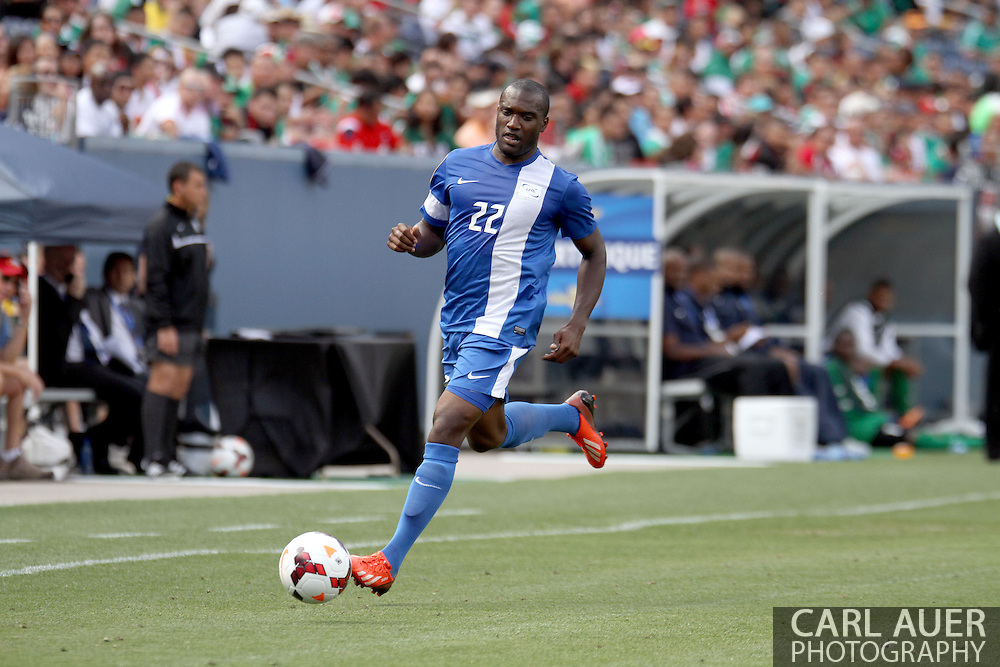 July 14 2013:  Martinique Defender Jean-Sylvain Babin (22) during second half action of the CONCACAF Gold Cup soccer match between Martinique and Mexico at Sports Authority Field in Denver, CO. USA.