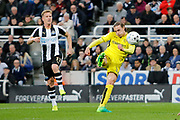 Burton Albion midfielder Jackson Irvine (36) has a shot go just over the bar during the EFL Sky Bet Championship match between Newcastle United and Burton Albion at St. James's Park, Newcastle, England on 5 April 2017. Photo by Richard Holmes.