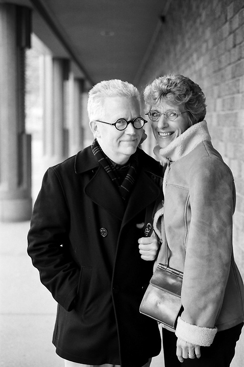 ANCHORAGE, AK: Anchorage, Alaska based photographer Clark James Mishler with his wife Mitzi Mishler.