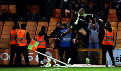 James Vaughan of Bury celebrates scoring a goal to make it 2-2 - Mandatory by-line: Robbie Stephenson/JMP - 20/01/2017 - FOOTBALL - Vale Park - Stoke-on-Trent, England - Port Vale v Bury - Sky Bet League One