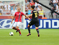 Fotball , EM , Norge - Tyskland 28.juli 2013 , kvinner ,  Sverige , Stockholm , Solna , europamesterskap, finale<br /> Trine Rønning<br /> <br /> Foto: Ole Marius Fjalsett