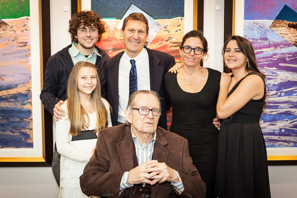 Arthur Secunda & Family at Gallery Opening at Cleary University