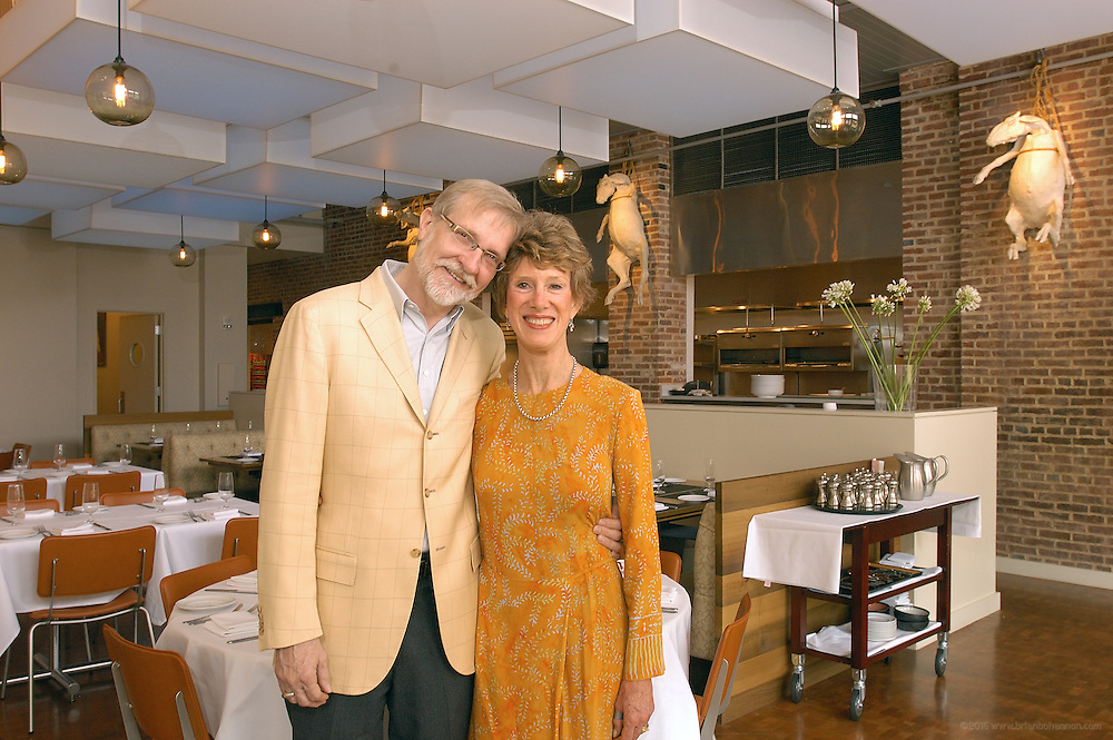 Steve Wilson and his wife Laura Lee Brown, photographed Wednesday, April 26, 2006, at Proof On Main restaurant...Photo by Brian  Bohannon , Freelance.