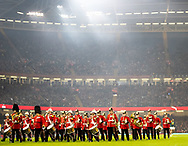 The Welsh Guards exit the pitch after the anthems<br /> <br /> Photographer Simon King/Replay Images<br /> <br /> Under Armour Series - Wales v South Africa - Saturday 24th November 2018 - Principality Stadium - Cardiff<br /> <br /> World Copyright © Replay Images . All rights reserved. info@replayimages.co.uk - http://replayimages.co.uk