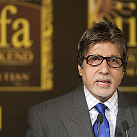 MACAU - JUNE 11: Indian Bollywood actor Amitabh Bachchan attends a news conference during the 2009 International Indian Film Academy Awards at the Venetian Macao-Hotel-Resort on June 11, 2009 in Macau. Photo by Victor Fraile / studioEAST