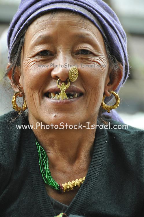 Darjeeling, West Bengal, India Portrait of a woman