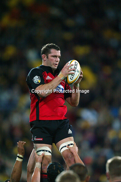07 May 2004, Rugby Union. Super 12, Westpac Stadium, Wellington, New Zealand. <br /> Hurricanes vs Crusaders.<br /> Reuben Thorne.<br /> The Hurricane's won the match 37 - 20.<br /> Please Credit: Photosport