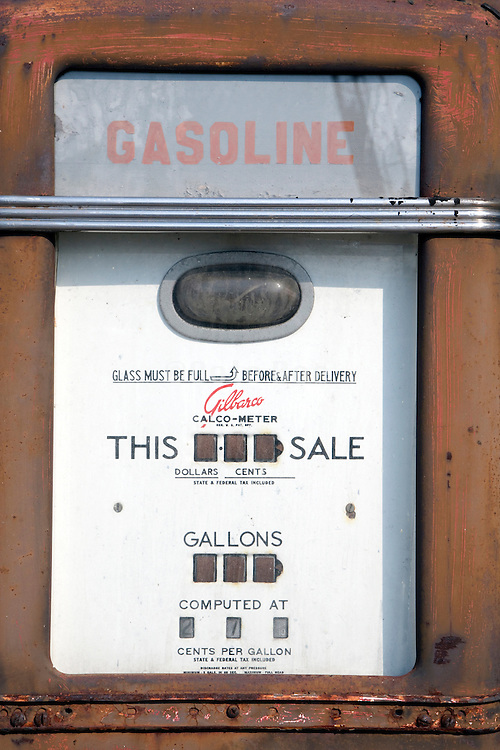 old gasoline tank stations pump USA
