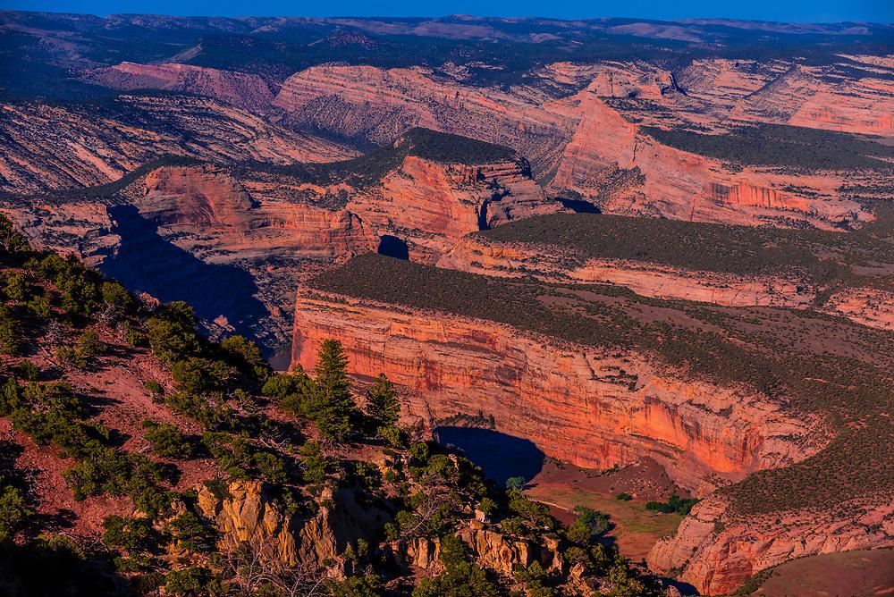 Overview, Dinosaur National Monument, Colorado USA.