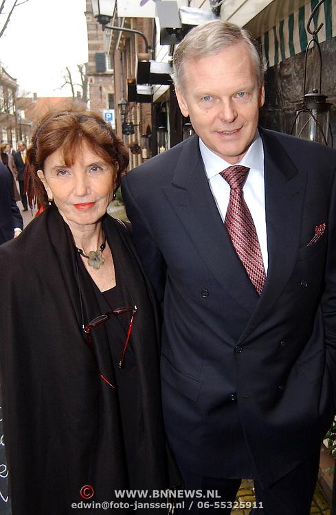 Mattheus Passion 2005, Gerard Kleisterlee en partner Annemiek.vrouw, echtgenote