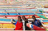 Senegal, Port de Peche de kayar, le plus grand port de peche du Senegal. // Senegal. Kayar fish harbour. Biggest fish harbour in Senegal