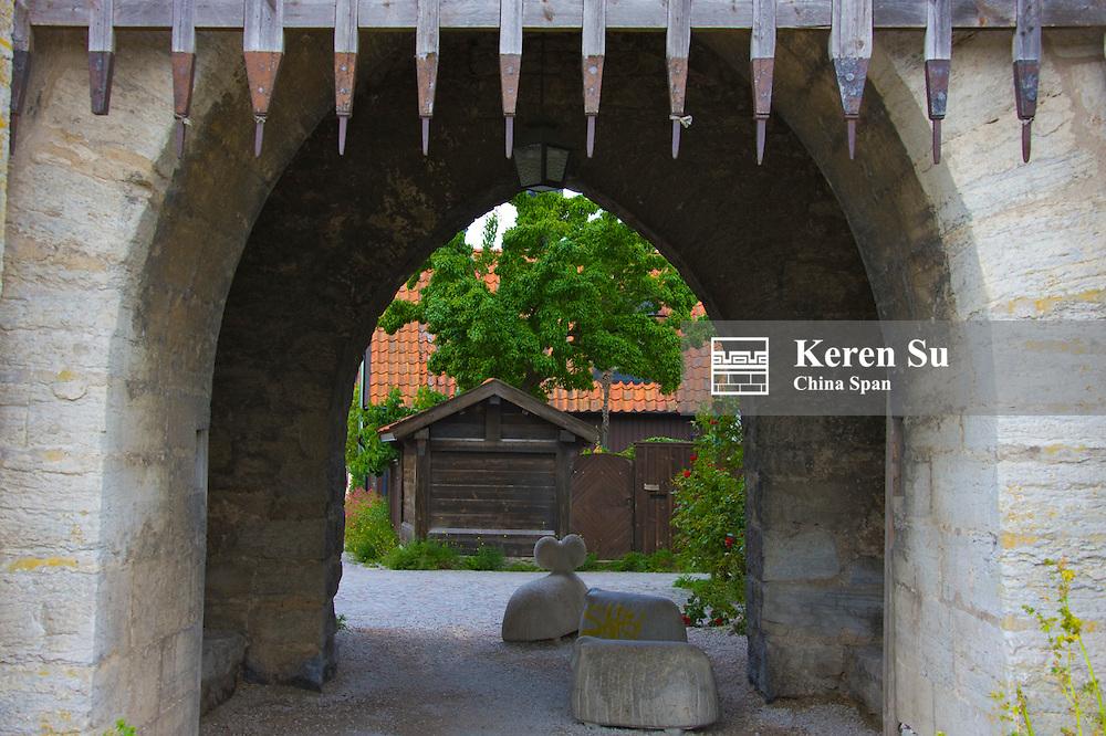 Medieval city gate, Visby, Gotland Island, Sweden