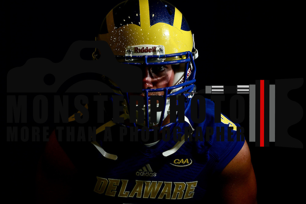 Photo of Delaware Linebacker Troy Reeder (9) taken Sunday, August 14, 2016, at Delaware Field House Facility on the campus of the university of Delaware in Newark.