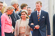 Ceremony of the bicentenary of the Battle of Waterloo. Waterloo, 18 june 2015, Belgium<br /> Pics: Grand Duke Henri of Luxembourg<br /> Grand Duchess Maria Teresa of Luxembourg