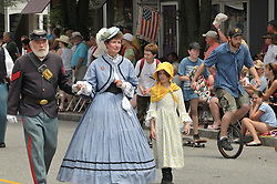 The Deep River Ancient Muster and Parade, 18 July 2009 in Deep River, Connecticut. Representation of a Civil War Family in authentic costume.