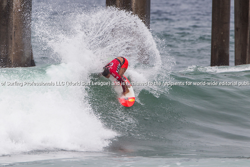 HUNTINGTON BEACH, CA, USA - Wednesday July 29th 2015 -  Silvana Lima (BRA) won her round two heat and advanced into round three at the Vans US Open of Surfing. <br /> Image: &copy; WSL/Rowland<br /> Photographer: Sean Rowland<br /> Social Media: @wsl @nomadshotelsc<br /> This Image is the Copyright of the World Surf League. It is for editorial use only. No commercial rights granted.