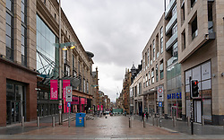 Glasgow, Scotland, UK. 3 April, 2020. Images from Glasgow at the end of the second week of Coronavirus lockdown.A deserted Buchanan Street in central Glasgow Iain Masterton/Alamy Live News
