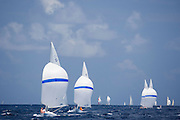 Dragon Class sailing in the Antigua Classic Yacht Regatta, Butterfly Race.