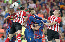 25.05.2012, Vicente Calderon Stadion, Madrid, ESP, Kings Cup Finale, FC Barcelona vs Athletic Bilbao, im Bild Barcelona's Seydou Keita and Gerard Pique against Javier Martinez and Gaizka Toquero // during the Spanish Kings Cup final match between Fc Barcelona and Athletic Bilbao at the Vicente Calderon Stadium, Madrid, Spain on 2012/05/25. EXPA Pictures © 2012, PhotoCredit: EXPA/ Alterphotos/ Alvaro Hernandez..***** ATTENTION - OUT OF ESP and SUI *****