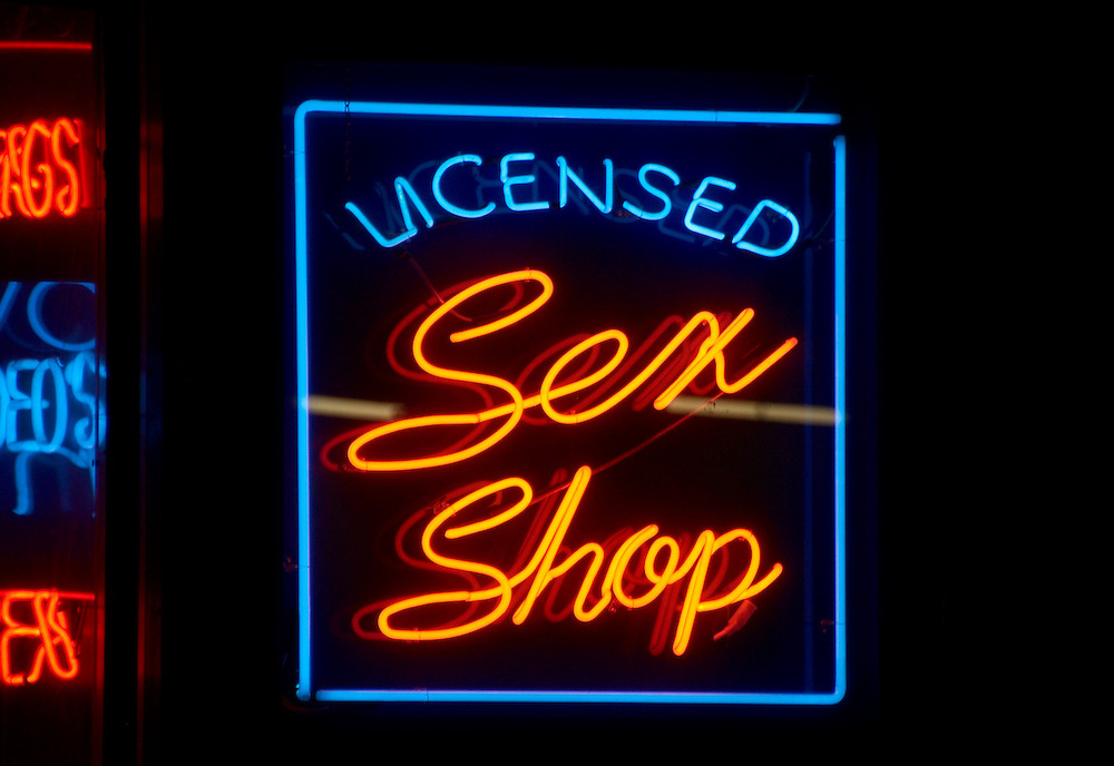 Adult 's shop in Soho, London.<br />