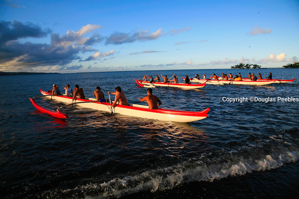 Outriggger canoes, Hilo, Island of Hawaii