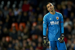 December 12, 2018 - Valencia, Spain - Jaume Domenech of Valencia during the match between Valencia CF and Manchester United at Mestalla Stadium in Valencia, Spain on December 12, 2018. (Credit Image: © Jose Breton/NurPhoto via ZUMA Press)